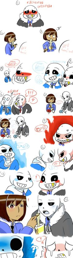 """This is all just a bad dream..."" Undertale: Main Character, Sans, Papyrus, Toriel, Asgore, Undyne, Alphys coolfirebird.tumblr.com/post/1… Undertale © Toby Fox"