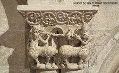 Capitel de los centauros, iglesia de San Claudio de Olivares #Zamora #románico Romanesque, Green Man, Christianity, Lion Sculpture, Statue, Columns, Roman Architecture, Roman Art, Centaur