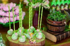 Cake Pops from a Tinkerbell Fairy Garden Birthday Party via Kara's Party Ideas KarasPartyIdeas.com (12)