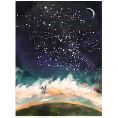 Personalised Baby Wall Art - The Stars Your Baby Was Born Under   hardtofind.