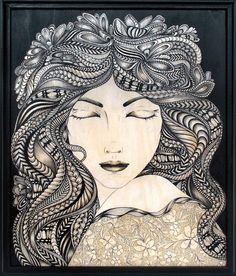 Beautiful. zentangle portraits | Zentangle Portraits inspired by Cil Laurens ... | General Adult Curri ...