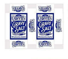 Queen's Gravy Salt vintage mini printable