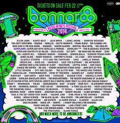 Bonnaroo Music Festival Lineup!! #Bonnaroo #Lineup #Festival Are you ready???