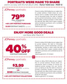 Coupon for jcpenney portrait cd / Great deals hotels uk