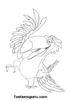 Free Printable Disney Rafael Rio Coloring Pages for kids. Print out coloring in sheet kids.