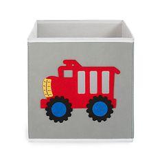 Bac de rangement pour enfant motif camion