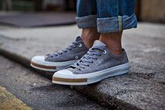CLOT x Converse 2011 Fall/Winter Chuck Taylor All Star Low: CLOT and Converse are once again at the center of a collaborative effort taking place on the Chuck Converse Chuck Taylor All Star, Converse All Star, Chuck Taylor Sneakers, Mens Fashion Blog, Fashion Shoes, Men's Fashion, Sock Shoes, Shoe Boots, Sharp Dressed Man