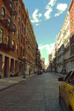 Cobblestone streets and lofts just scream SoHo.
