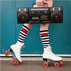 Patinar oyendo el stereo a todo volumen!