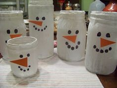 Blessed In Homemaking: Cute Snowman Craft