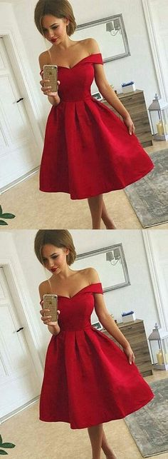 Cute A line off shoulder short prom dress,fashion homecoming dress,112612