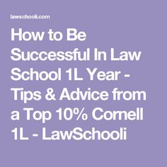 How to Be Successful In Law School 1L Year - Tips & Advice from a Top 10%…