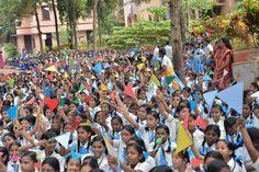 Kids cheering Ammu
