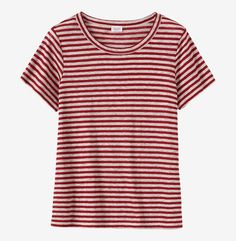 STRIPE LINEN SHORT SLEEVE TEE by TOAST