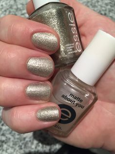 """Essie nailpolish - """"Beyond cozy"""" and """"Matte about you""""."""
