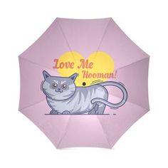 Kotetsu Cat - Love Me Hooman Foldable Umbrella Cat Umbrella, In And Out Movie, Cat Love, Shoulder Handbags, Cats, Artist, Animals, Store, Gatos