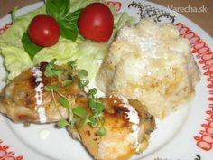 Pečené kura s ryžou a smotanou z jedného pekáča (fotorecept) - Recept
