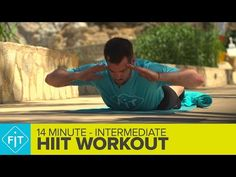 14 Minute HIIT Workout - Intermediate - YouTube