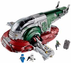 Ultimate Collector Edition set will be Boba Fett's Slave I ship from Star Wars. It consists of 1,996 pieces and comes with minifigs, which includes its pilot Boba Fett, a stormtrooper, a Bespin guard, and a duo and two Han Solos… one in carbonite and one not!