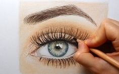 Drawing a realistic eye with colored pencils | Emmy Kalia