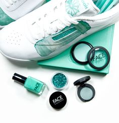 Reebok + FACE Stockholm = Shoes that were made to match my nail polish :)