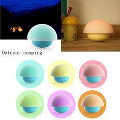 Trendinao Tumbler Mushroom Night Light 7 Color Tap Touch Sensor