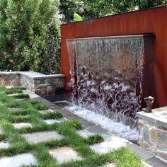 Waterfall Fountain In The Backyard ...