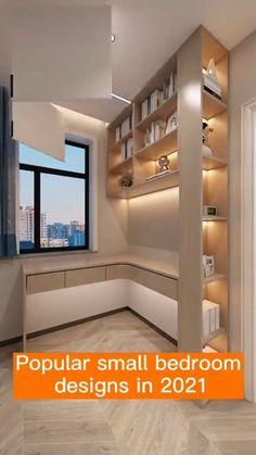 Small Room Design Bedroom, Small House Interior Design, Wardrobe Design Bedroom, Bedroom Furniture Design, Home Room Design, Home Decor Furniture, Dressing Room Design, Apartment Interior, House Rooms