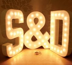 3x marquee letter lights with warm white leds by theletterlounge
