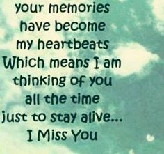 I think about you all the time ...