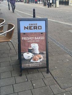 Cafe Nero promote their pastries...
