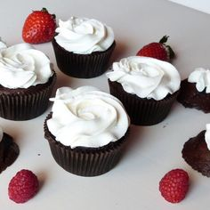 #cupcakes #panna #fragola #ricetta http://instagram.com/p/1NrGu4yG9O/ #cioccolato #frutta #dolci