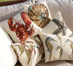 Our sea creature pillows are weather friendly, yet as soft and cushy as their indoor counterparts.