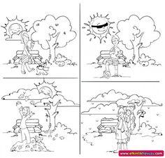 4 seasons coloring pages | coloring pages | seasons activities, seasons worksheets, preschool