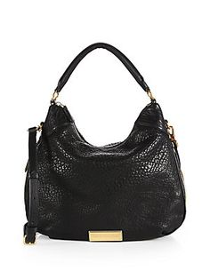 Marc by Marc Jacobs Washed Up Billy Bubble-Leather Hobo Bag  |  Beautifully textured bubble leather adds richness to the relaxed silhouette of this classic hobo bag with strap #StreetStyle #BoHo #ootd #FashionForward