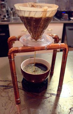 Coffee Pour Over Station | this would be fun to do with mars and josh when we go camping in our living room!!!