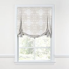 The goddess of roman shades, the Tulip Roman Shade with it's signature inverted pleats makes an elegant statement on a classic window. We love it in this on trend marble motif in light shades of pearl pink and taupe gray. Window Treatments Living Room, Living Room Windows, White Sheer Curtains, Drapes Curtains, Blackout Curtains, Curtain Trim, Neutral Curtains, Elegant Home Decor, Elegant Homes