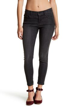 Faded Gray Skinny Jeans (Petite)