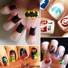 I LOVE THESE! So creative! Like me! Wouldn't the batman nails hurt to cut and wouldn't it be really hard to grow normally back!?
