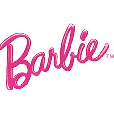 This is a good example of using a type of font that suits the target market for the product. Obviously, Barbie's are girly products, and the flowy, handwritten font is appropriate. Even without the pink in the logo, the market would be established.