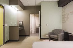 UMC New Orleans houses private patient rooms with space for family to remain with patients throughout their stay. Image: © NBBJ/Sean Airhart.