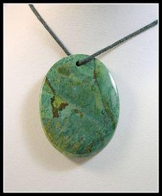 Rich Green Focal Bead Made From Gary Green Jasper