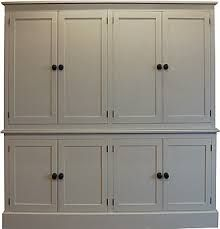 """eight door larder cupboard painted in Farrow & Ball """"String"""" I'll take a four door. Add counter space & outlets for using appliances Kitchen Larder, Larder Cupboard, Kitchen Cabinetry, Cupboard Doors, Linen Cupboard, Cabinet Drawers, Inset Cabinets, Painted Cupboards, Farrow And Ball Kitchen"""