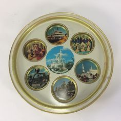 Walt Disney World Vintage Drink Tray with Images of Theme Park Souvenir 1970s by KoolKoolThangs on Etsy