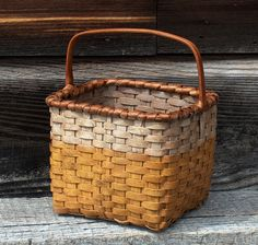 Isn't this a great old basket with wonderful mustard paint.