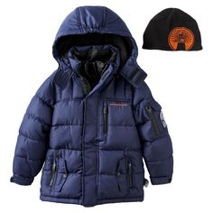 Boys 4-7 Weatherkids Heavyweight Waterproof Quilted Hooded jacket, Boy's, Size: