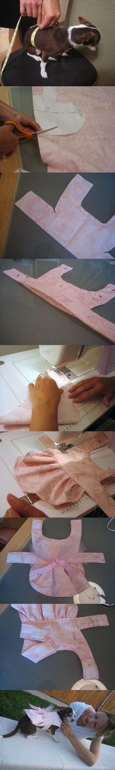 DIY Pink Stylish Dog Dress 2