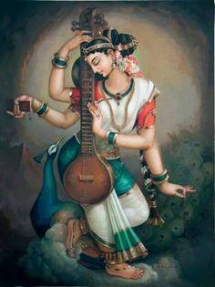 #Saraswati #hindu #art
