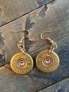 Gold Shot Gun Shell Earings by Takeaimatmyheart on Etsy