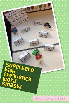 Superhero HF word smash!